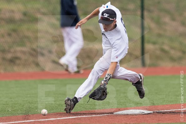 Photos taken during the game for the 3rd Place of the French International Baseball Tournament between France and The Internationals Stars. France won 12-9 in 10 innings. 04/09/2016 Credit Photo : Glenn Gervot Photography www.gervot.com