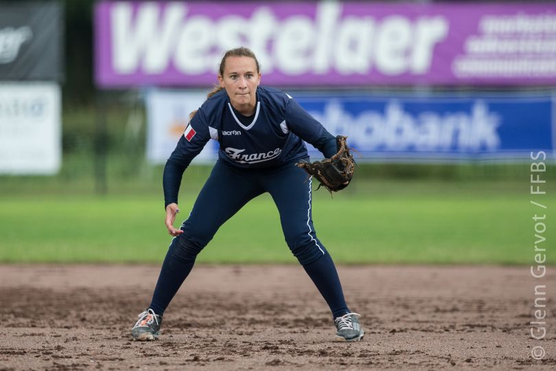 Shots taken during the 1st round pool game of the European Softball Woman Championship, between France and Poland National Teams, in Rosmalen, Netherlands. France team won 9-2.   July 19th 2015 Credit : Glenn Gervot