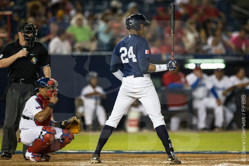 Shots taken during the third game of Team France during the World Baseball Classic Qualifier against Team Panama for a place in the final of the 2016 qualifier. Rod Carew Stadium in Panama City, Panama. France lost 7-4. 19/03/2016 Credit photo : Glenn Gervot