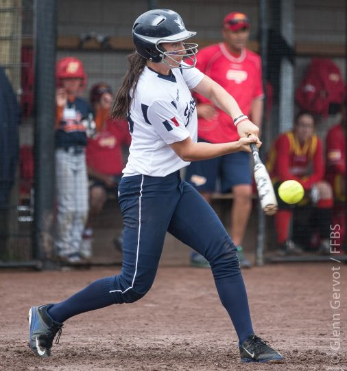 Shots taken during the 1st round pool game of the European Softball Woman Championship 2015, between Spain and France National Teams, in Rosmalen, Netherlands. Spain Won 8-7 in extra innings July 19th 2015 Credit : Glenn Gervot