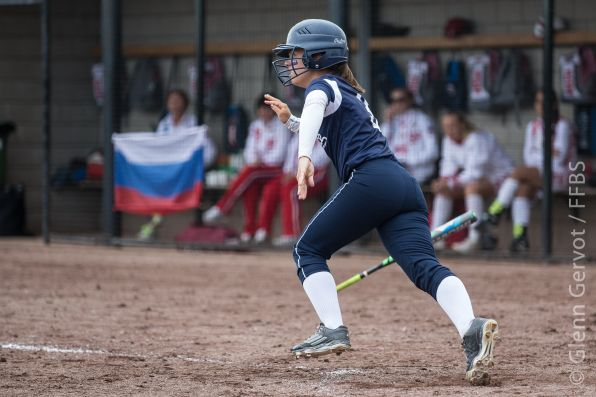 Shots taken during the 1st round pool game of the 2015 European Softball Woman Championship, between France and Russia National Teams, in Rosmalen, Netherlands. Russia Won 13 to 1. July 20th 2015.  Credit : Glenn Gervot