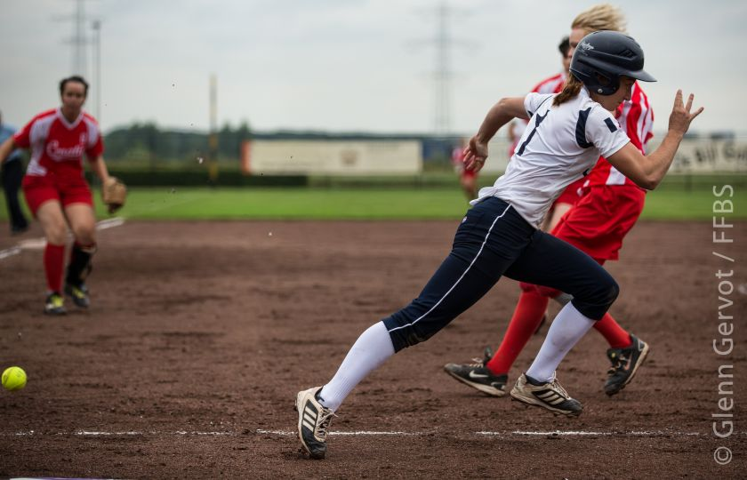 Shots taken during the 1st round pool game of the European Softball Woman Championship, between Croatia and France national Team, in Rosmalen, Netherlands. Game won 9-1 by Team France. July 19th 2015 Credit : Glenn Gervot
